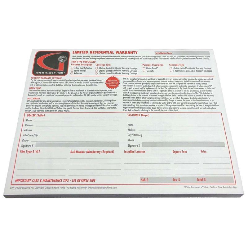 Warranty Forms
