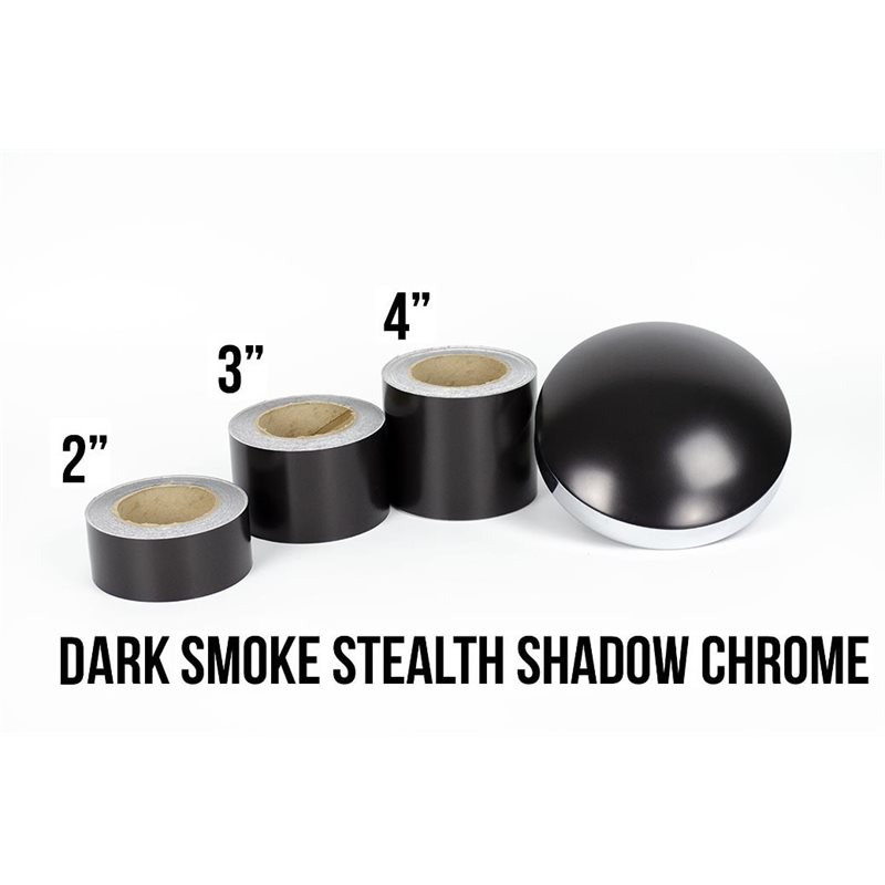 Luxe LightWrap™ Dark Smoke Stealth Shadow Chrome Roll