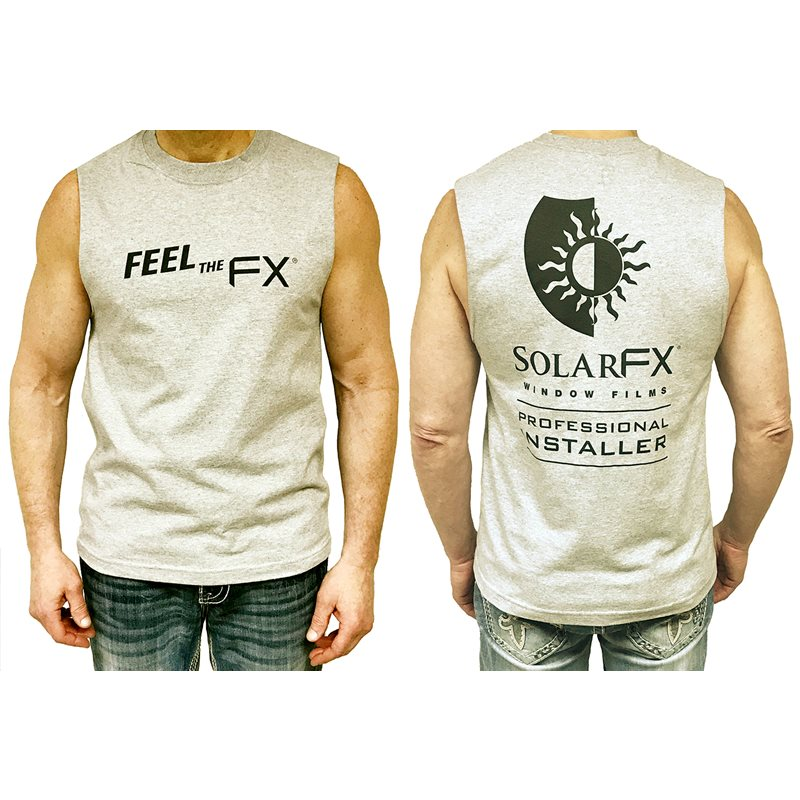"SolarFX Men's Grey Athletic ""Feel the FX"" Logo T-Shirt"