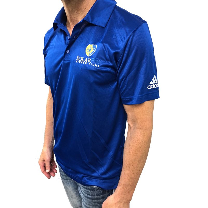 Royal Blue Adidas Climate Polo