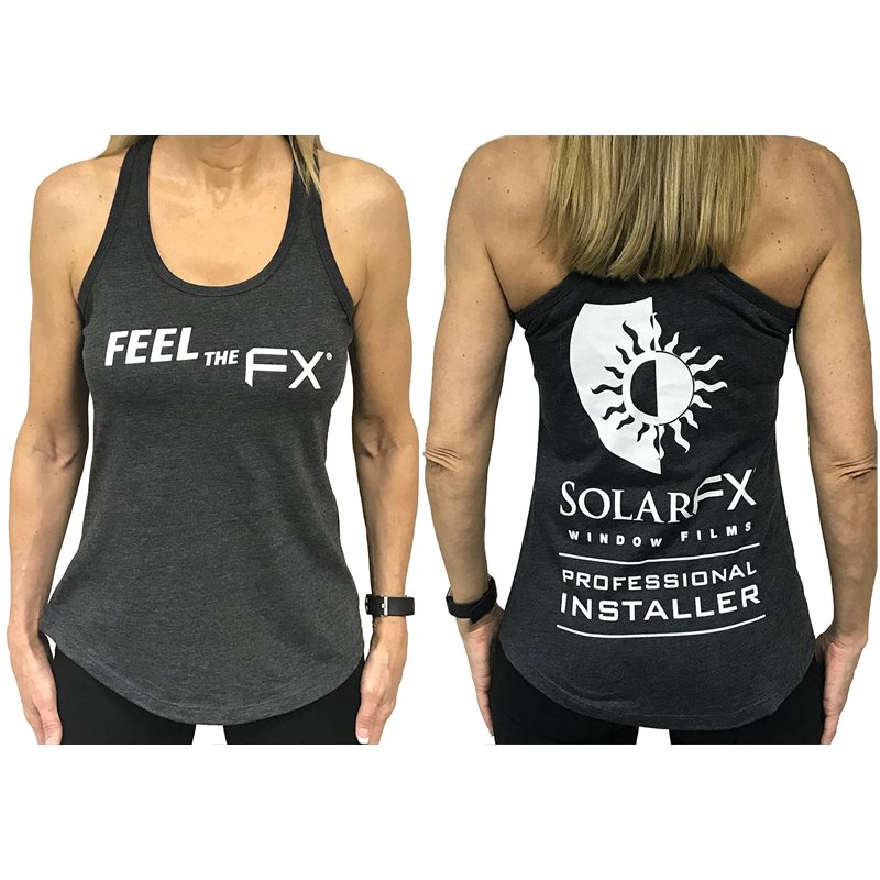 "SolarFX Women's Charcoal ""Feel the FX"" Tank Top"