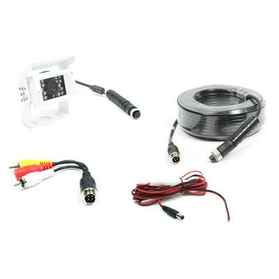 ROSTRA - WHITE HINGE MOUNT CAMERA WITH 66' EXT HARNESS
