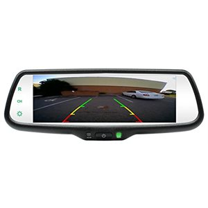 "ROSTRA - REARVIEW MIRROR WITH 7.3"" SCREEN"