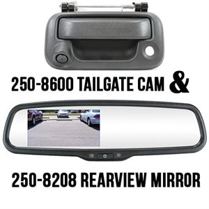 "ROSTRA - FORD F150 4.3"" MIRROR W / TAILGATE HANDLE CAMERA"