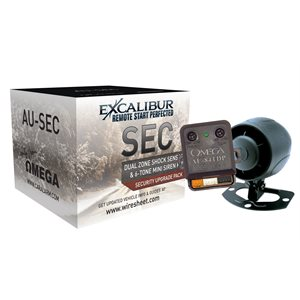 EXCALIBUR - MINI SIREN & DUAL ZONE DATA SHOCK SENSOR PACKAGE