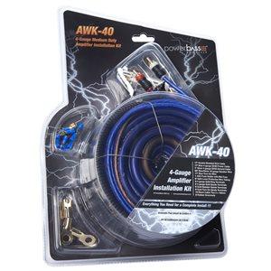 POWERBASS 4-GA AMP KIT