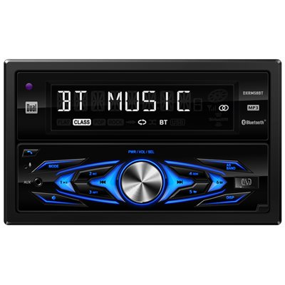 DUAL - 2 DIN MECHLESS MEDIA RECEIVER W / BLUETOOTH