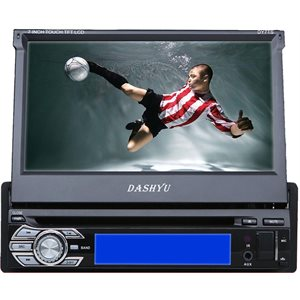 "DASHYU - SINGLE DIN 7"" MULTIMEDIA MOTORIZED WITH BLUETOOTH"