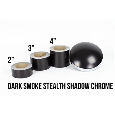 "Luxe LightWrap Dark Smoke Stealth Shadow Chrome Roll - 2"" x 25yd - 12%VLT - Satin"