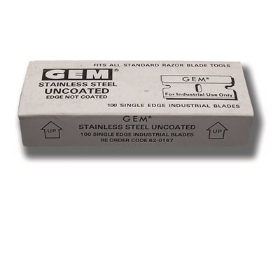"GDI - 1"" STAINLESS STEEL SINGLE EDGE BLADES, BOX OF 100"