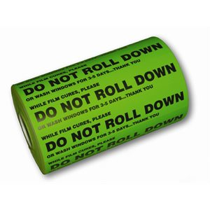"GDI - GREEN ""DO NOT ROLL DOWN"" STICKERS, ROLL OF 1000"