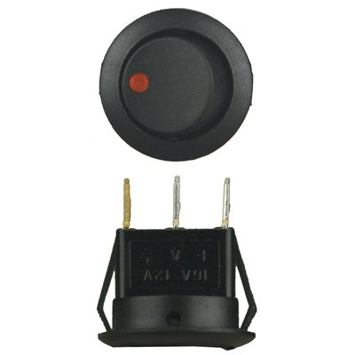 INSTALL BAY ROUND ROCKER SWITCH WITH RED LED 5 / BAG