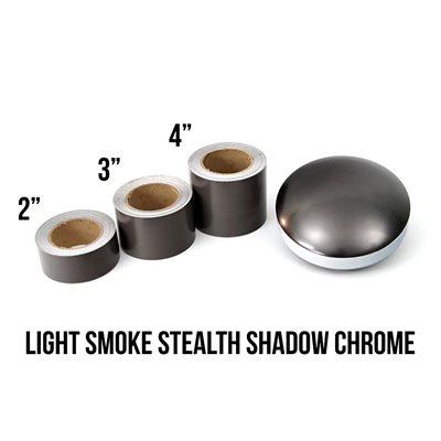 "Luxe - LightWrap Light Smoke Stealth Shadow Chrome Roll - 2"" x 25yd - 45%VLT - Satin"