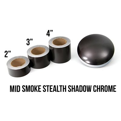 "Luxe - LightWrap Mid Smoke Stealth Shadow Chrome Roll - 2"" x 25yd - 24%VLT - Satin"