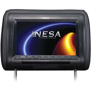 "NESA - SINGLE 9"" HEADREST WITH 3 COLOR SKINS & MHL"