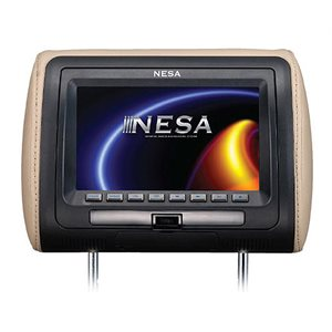 "NESA - 7"" HEADREST MONITOR W / DVD & 3-COLOR SKINS"