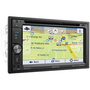 "NESA - 6.5"" DOUBLE DIN WITH NAVIGATION & BLUETOOTH"
