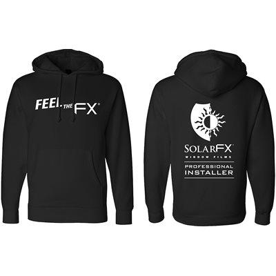 SOLARFX BLACK HOODIE - MEDIUM