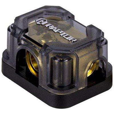 RAPTOR (1) 1 / 0 OR 4GA OUTPUT (2) 4 OR 8GA OUTPUT GROUND BLOCK