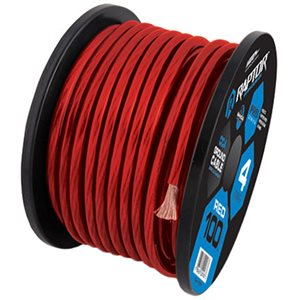 RAPTOR 25FT 1 / 0 GAUGE RED CCA WIRE