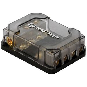 RAPTOR 4 POSITION MANL FUSE BLOCK NICKEL