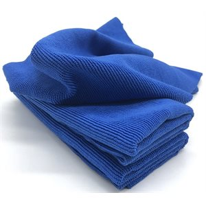 "16""X16"" BLUE EDGELESS 400GSM MICROFIBER TOWELS - 20 PACK"