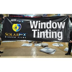 SOLARFX 4' X 10' BLACK OUTDOOR BANNER