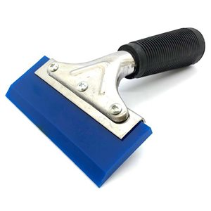 Blue Beveled Squeegee Blade with Pro Handle