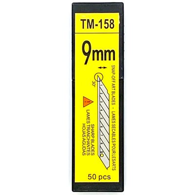 9MM CARBON ACUTE 30 DEGREE BLADES (50-PACK)