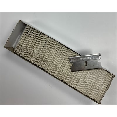 "1"" STAINLESS STEEL RAZOR BLADES (100-PACK)"
