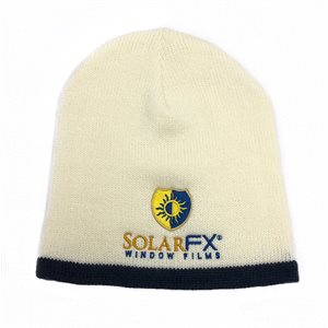 SolarFX - White with Blue Strip Beanie