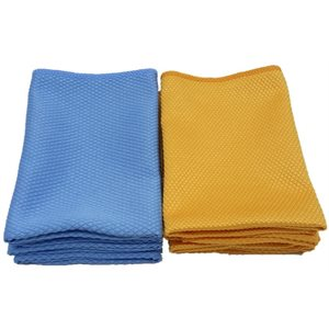 """13.75"""" X 13.75"""" FISH SCALE 270GSM WOVEN MICROFIBER TOWELS - 20 PACK"""