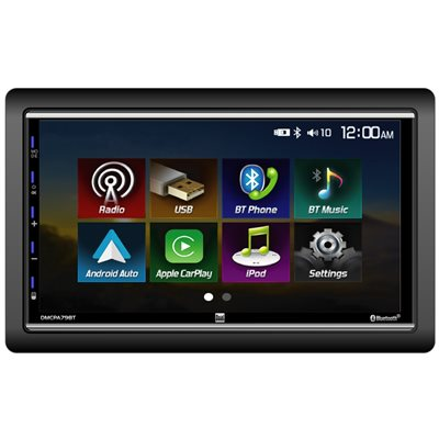"""DUAL - 7"""" DOUBLE-DIN MECHLESS CARPLAY, ANDROID AUTO, BLUETOOTH"""