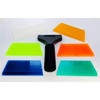SQUEEGEE DEAL! 6-SQUEEGEE'S WITH PRO HANDLE